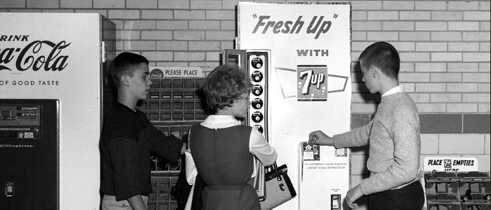 Old Vending Machine Image